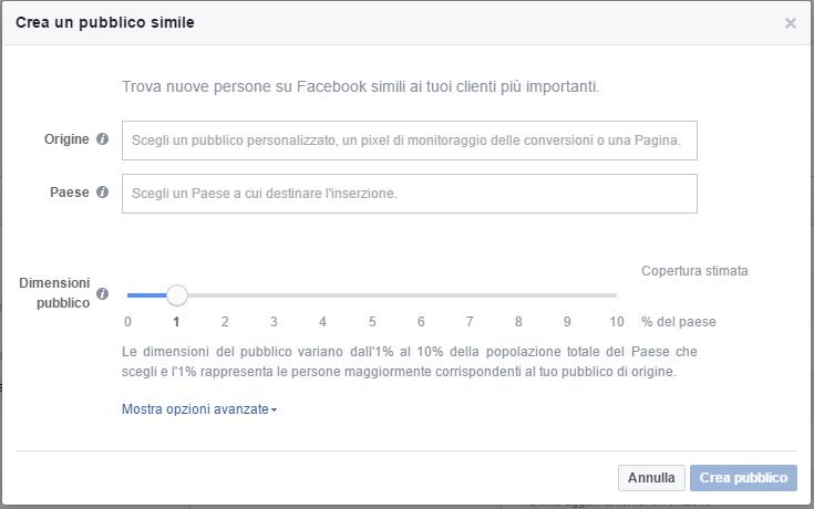 Crea Pubblico Simile Facebook